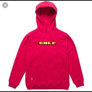golf wang red hoodie